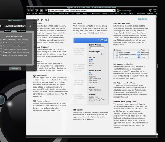 Crystal Black A Dark Theme For Mac Os X