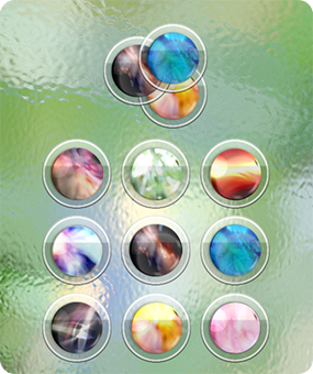 Frosted Crystals - A set of desktop pictures for CrystalClear Interface