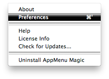 AppMenu Magic Menu