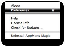 AppMenu Magic Menu