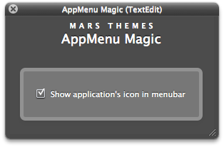 AppMenu Magic Options Panel